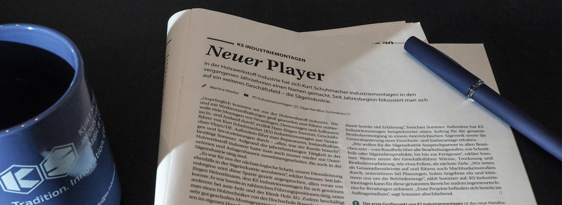 Holzkurier-Zeitschrift mit Kurt Schuhmacher Beitrag